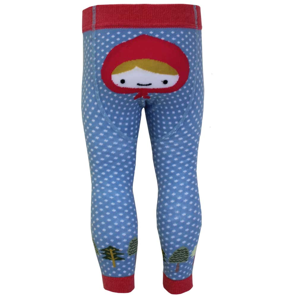red riding hood themed footless leggings from powell craft