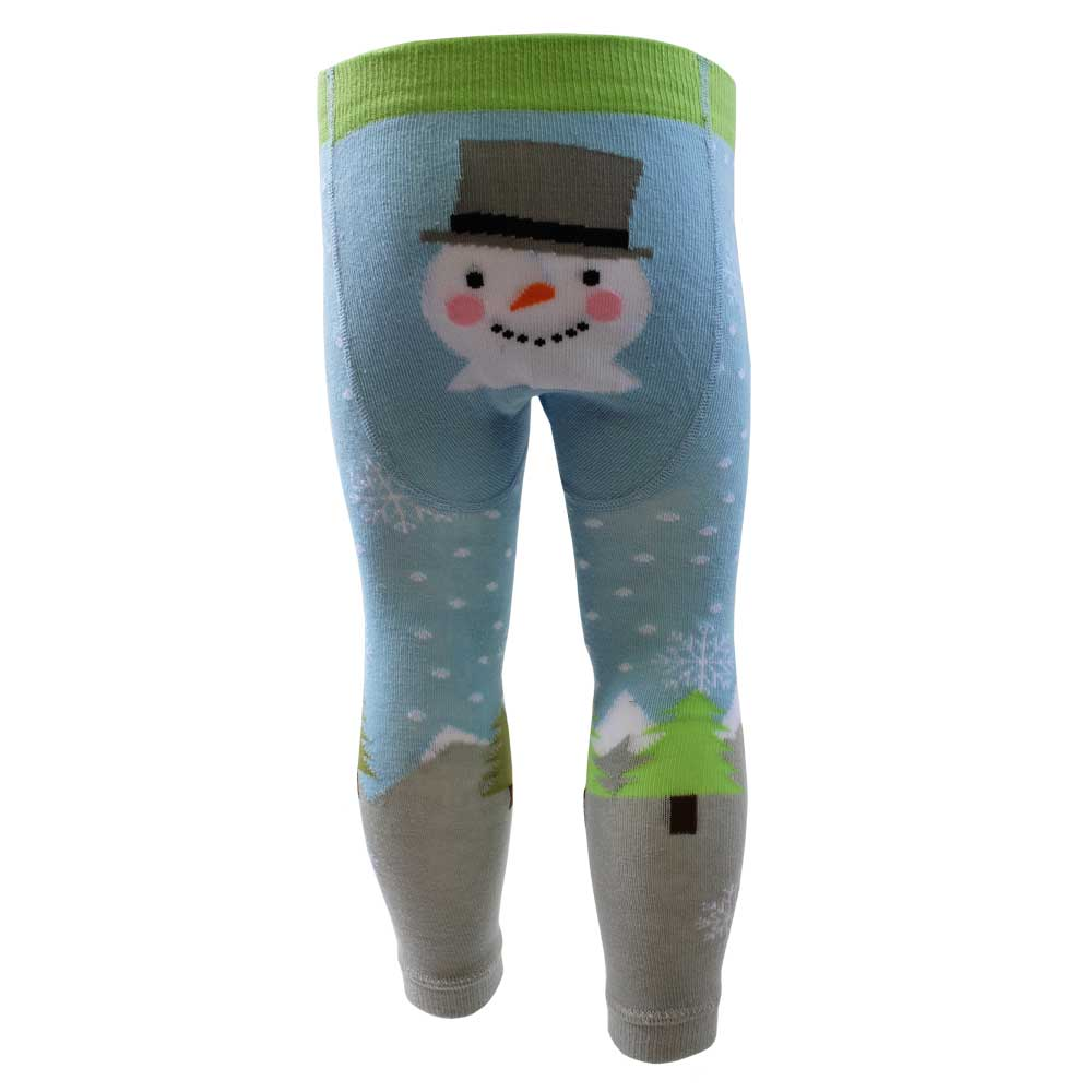 snowman themed footless leggings from powell craft