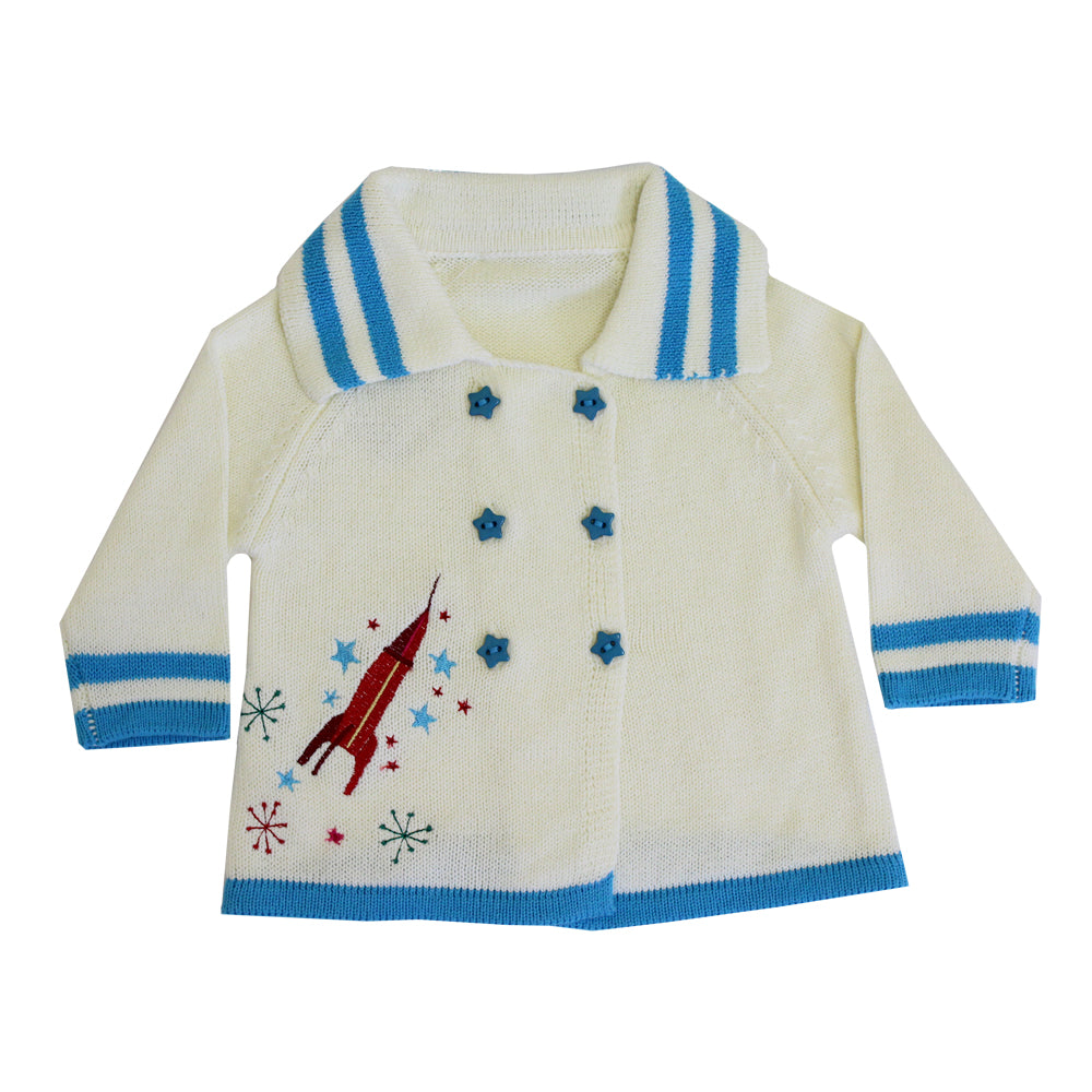 rocket and space baby pram coat by powell craft