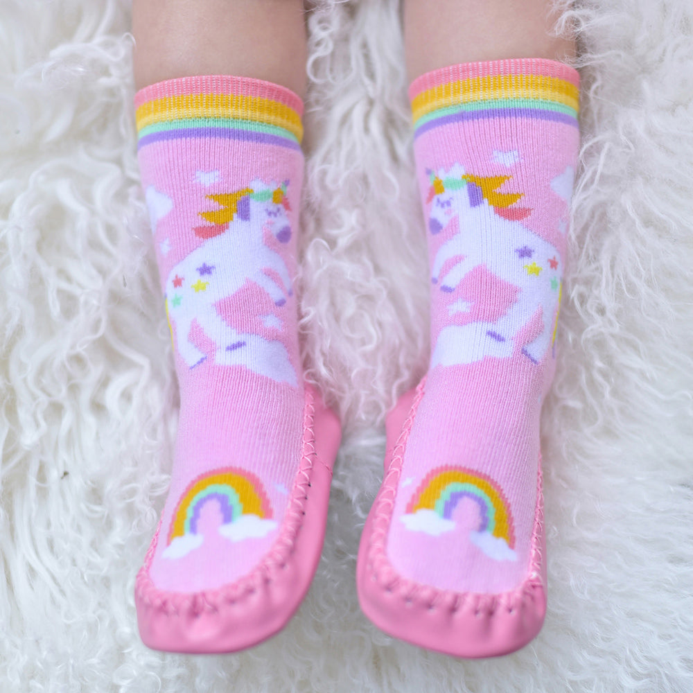 Unicorn Moccasin Slippers