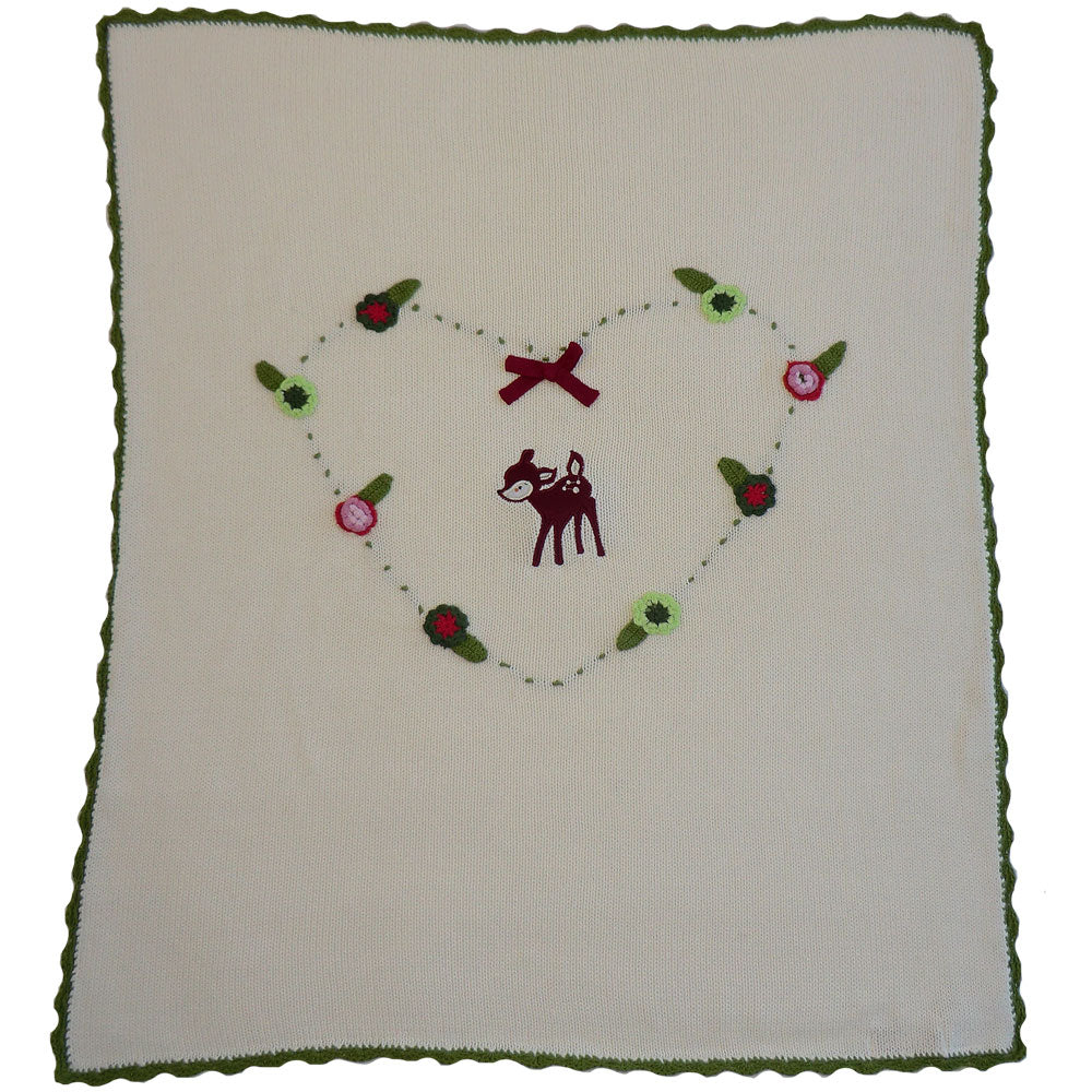 Woodland Deer Pram Blanket