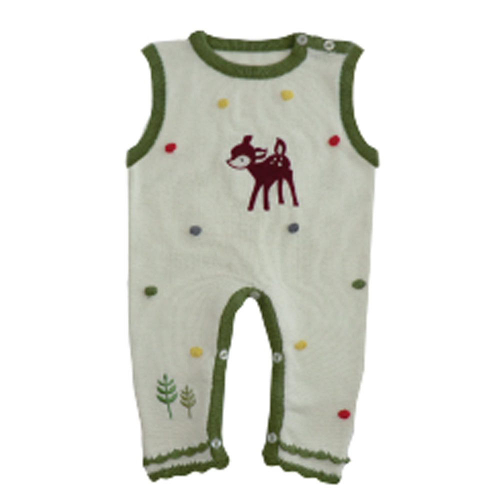 Woodland Deer Sleeveless Jumpsuit