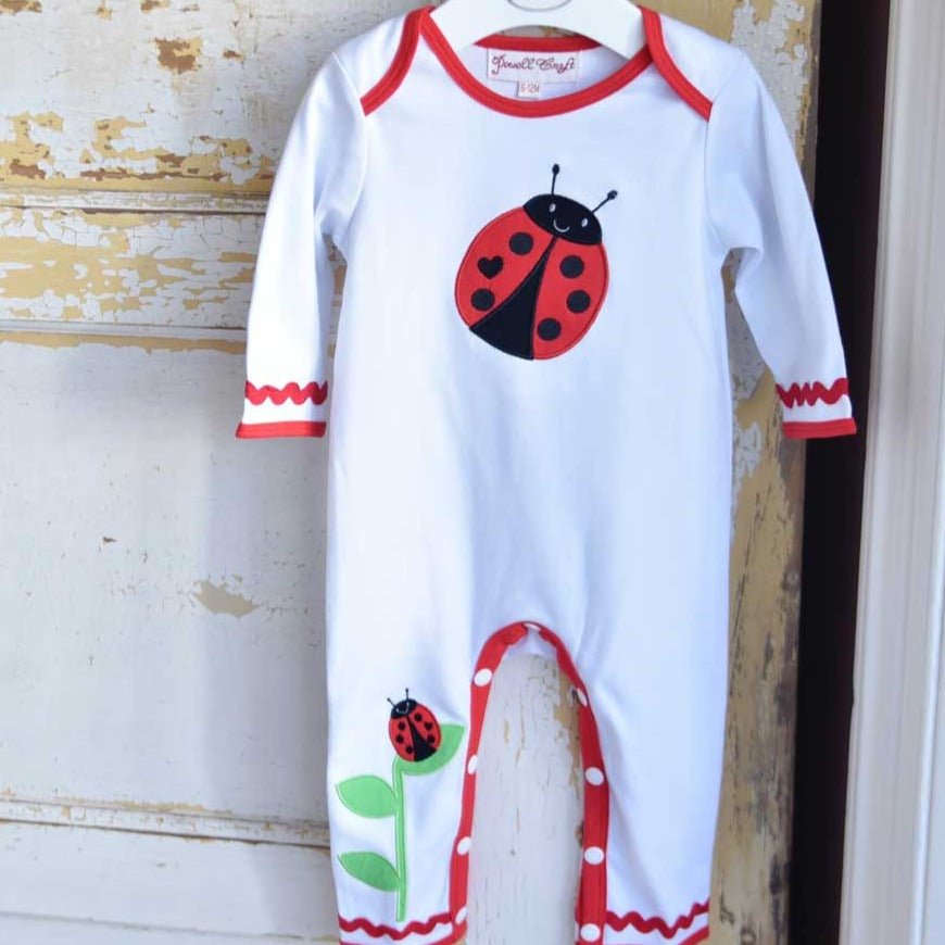 cotton ladybird baby jumpsuit by powell craft