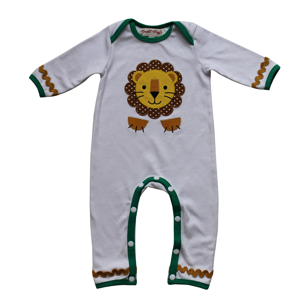 Lion Embroidered Jumpsuit