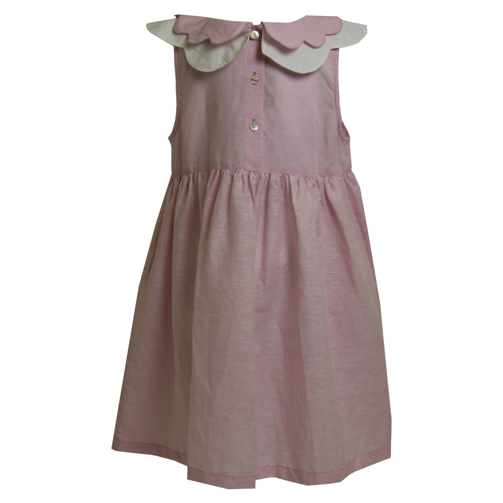 Powder Pink Linen Dress