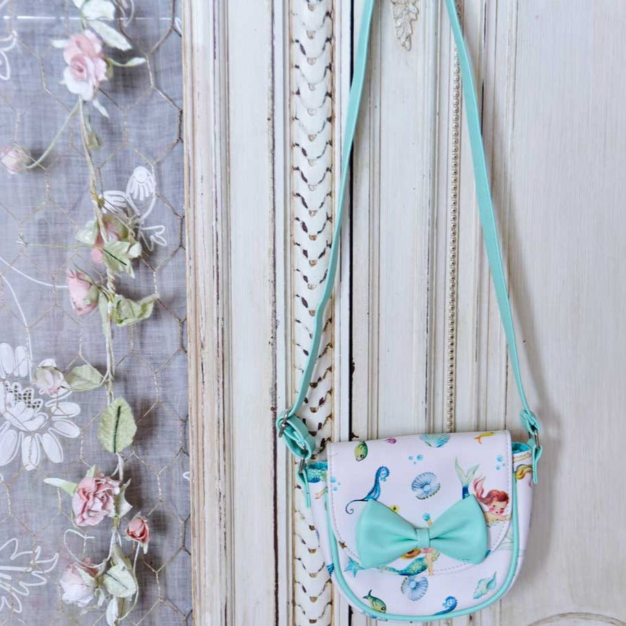 Mermaid Print Mini Handbag