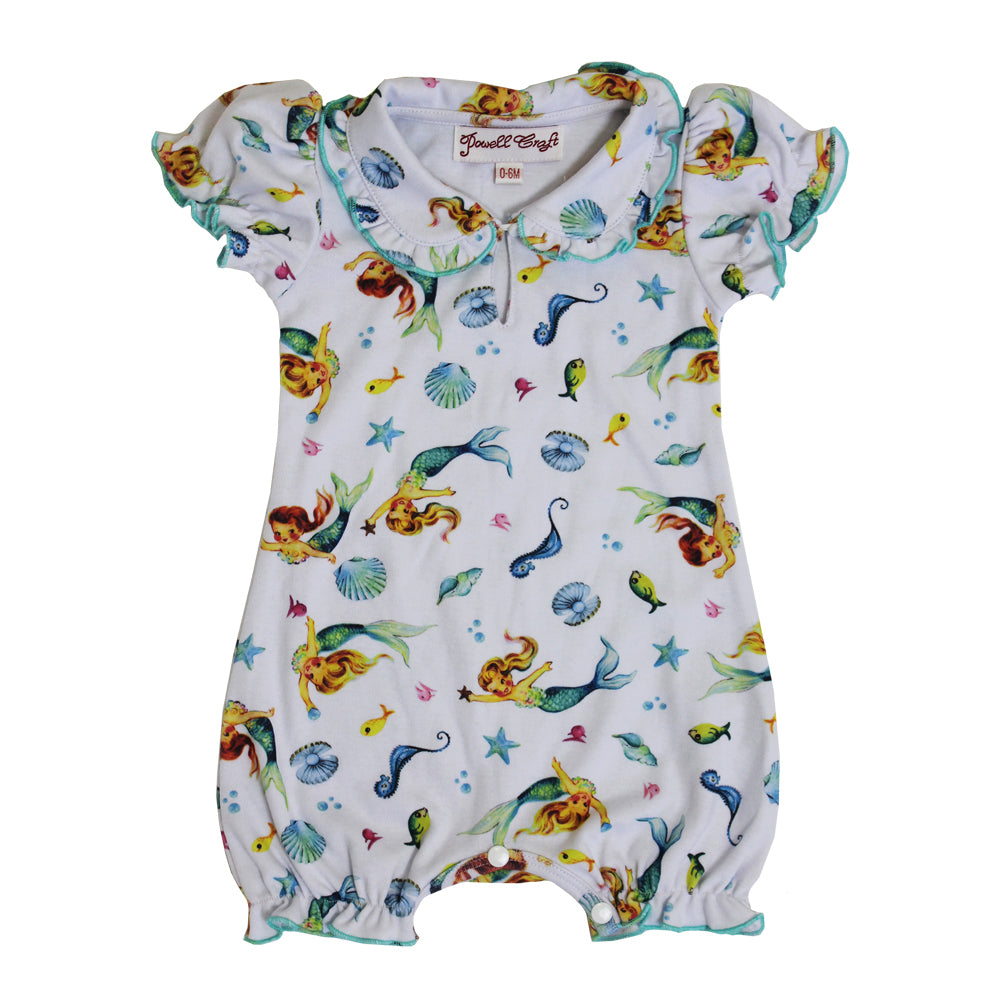Mermaid Print Baby Grow