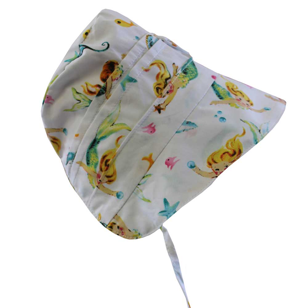 Mermaid Print Baby Bonnet