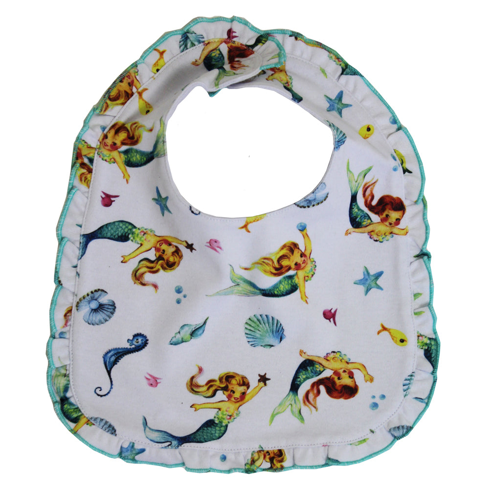 Mermaid Print Bib