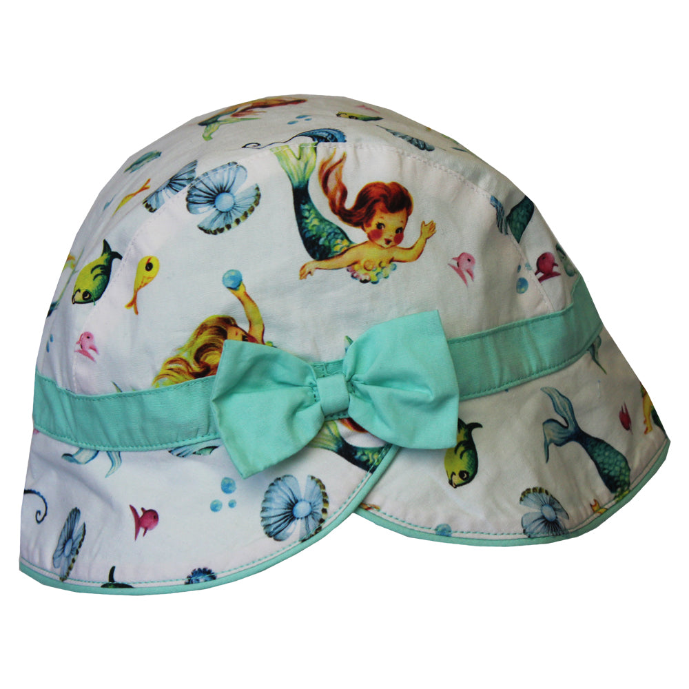 mermaid print childs hat by powell craft