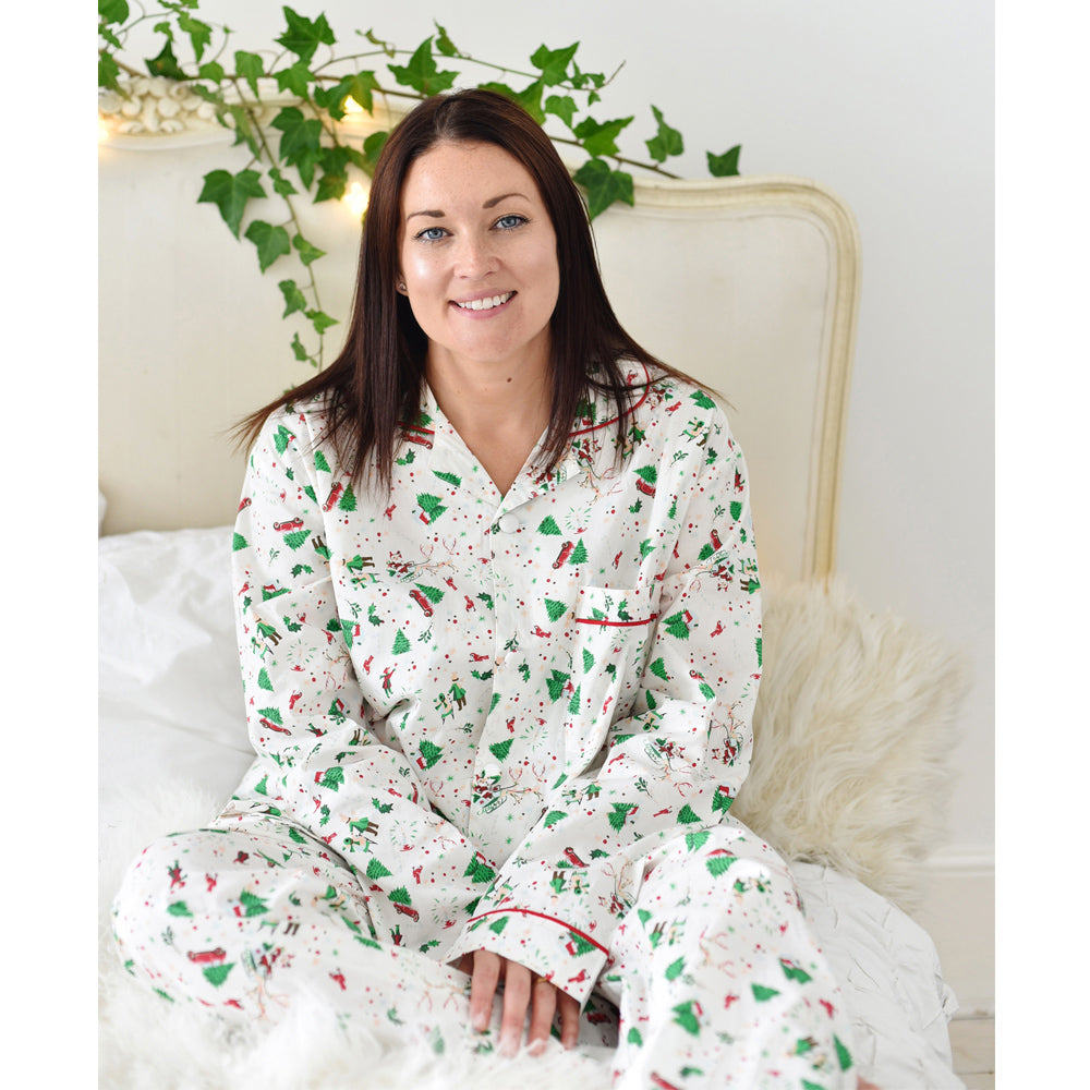 Christmas Print Adult Pyjamas