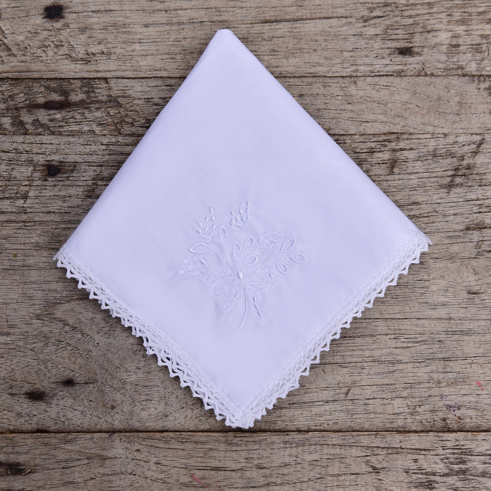 Pack of 3 Bouquet Embroidered Hankies