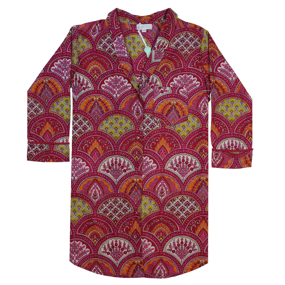 Raspberry Paisley Ladies Nightshirt