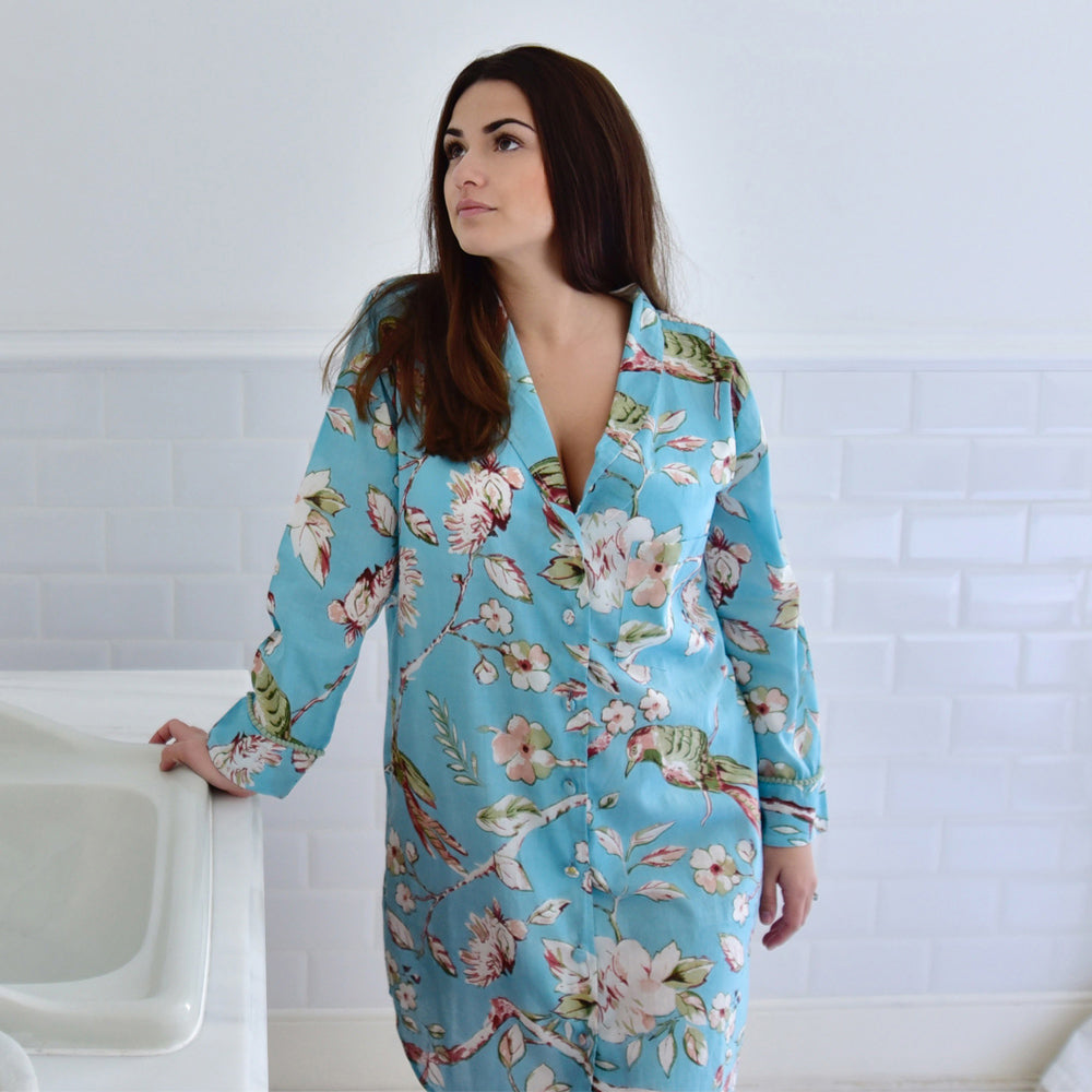 Blue Blossom Ladies Nightshirt