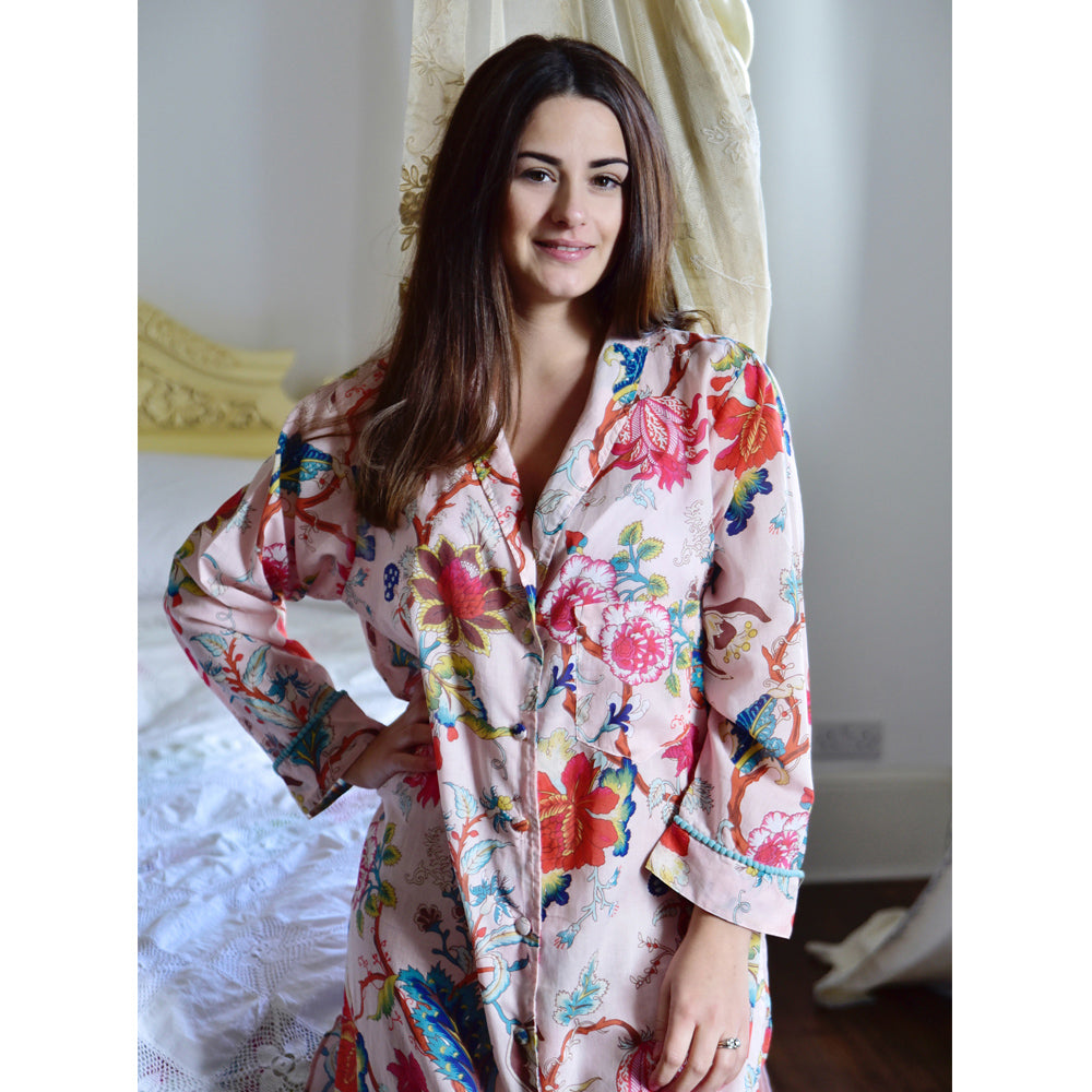 Pink Floral Ladies Nightshirt