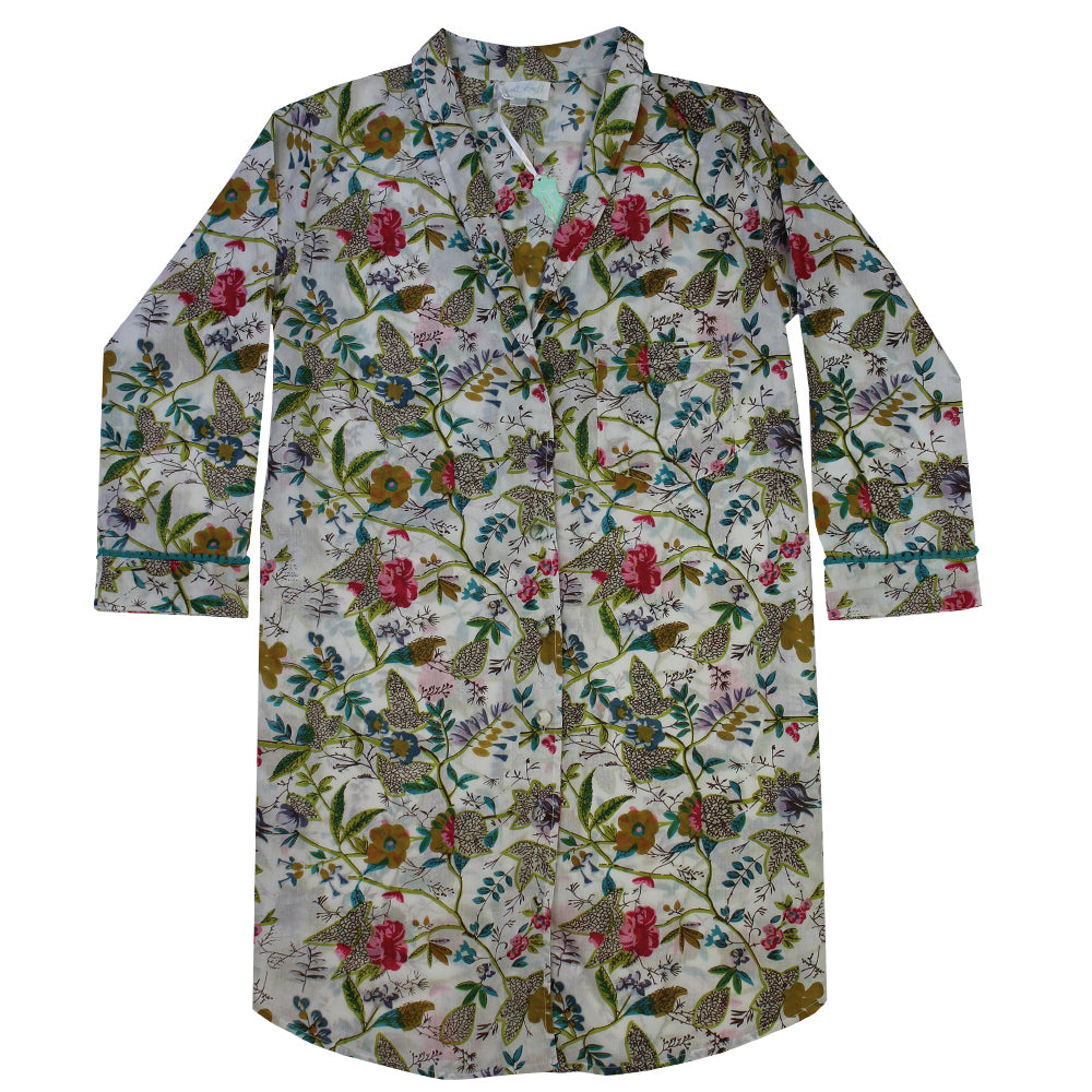 White Leaf Ladies Nightshirt