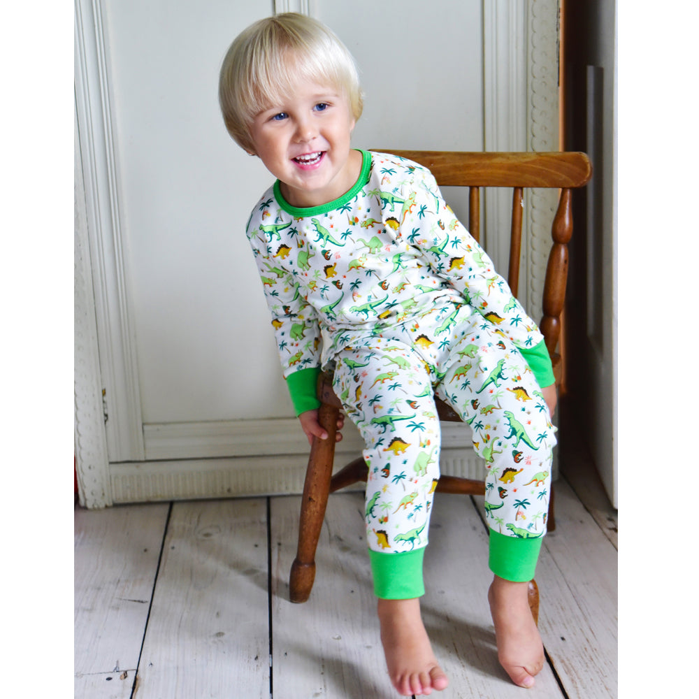 Dinosaur Cotton Knit Pyjamas