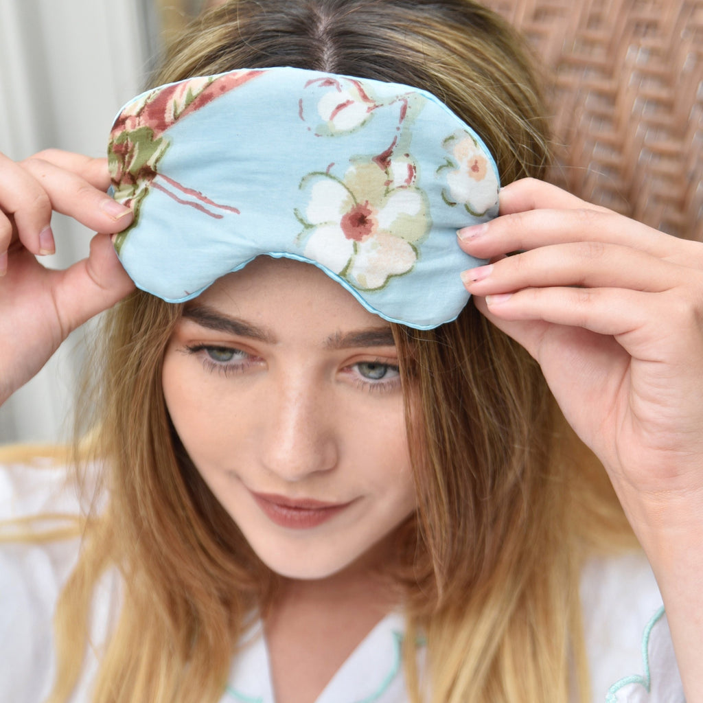 Blue Blossom Eye Mask