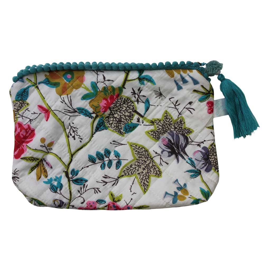 White Leaf Wash Bag