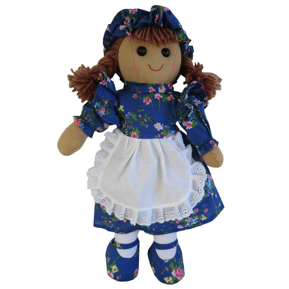Dark Blue Floral 40cm Rag Doll