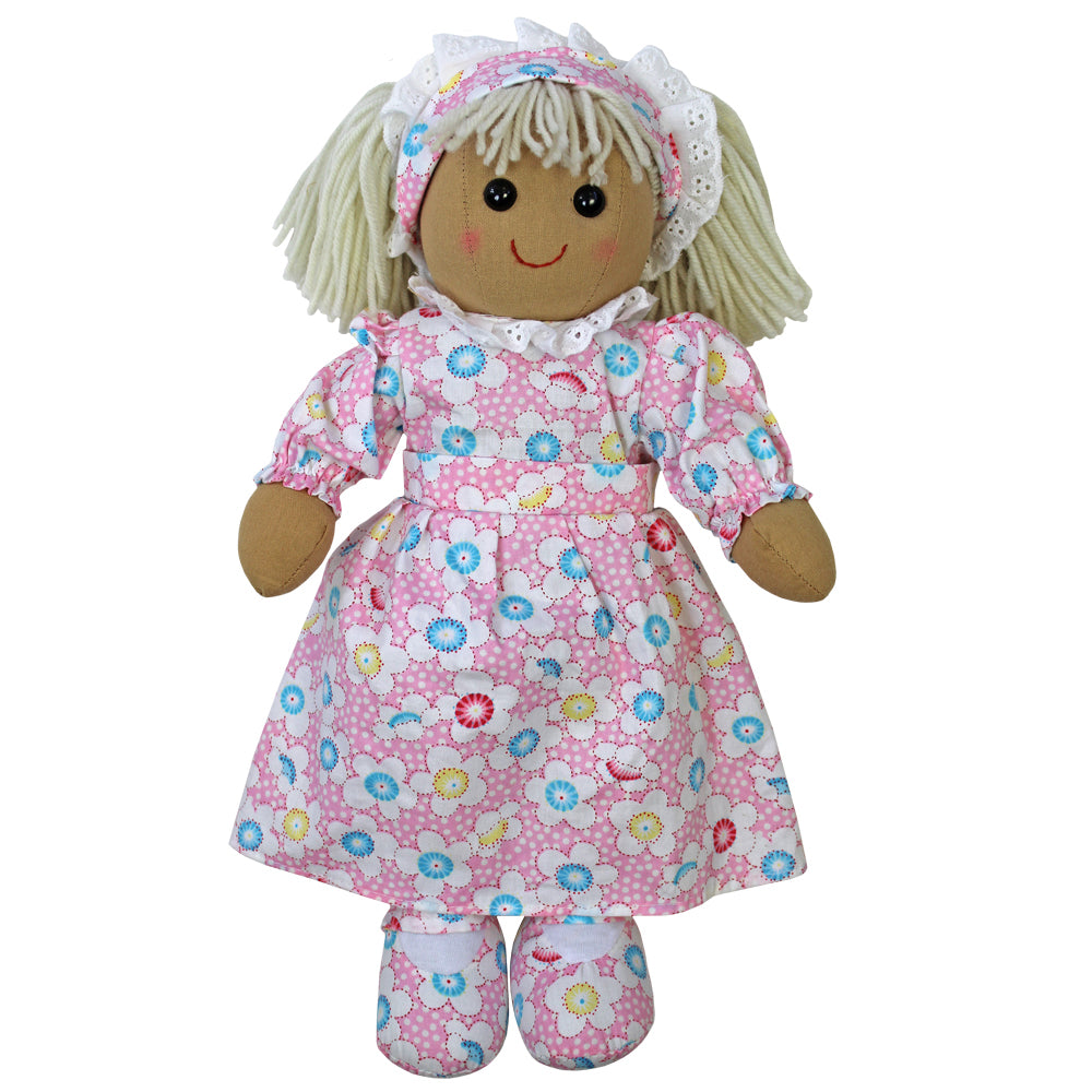 Pink Dotty Floral 40cm Rag Doll