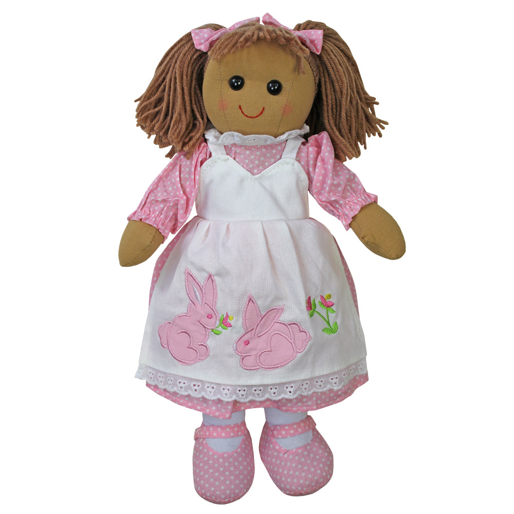 40cm Rag Doll with Rabbit Dress