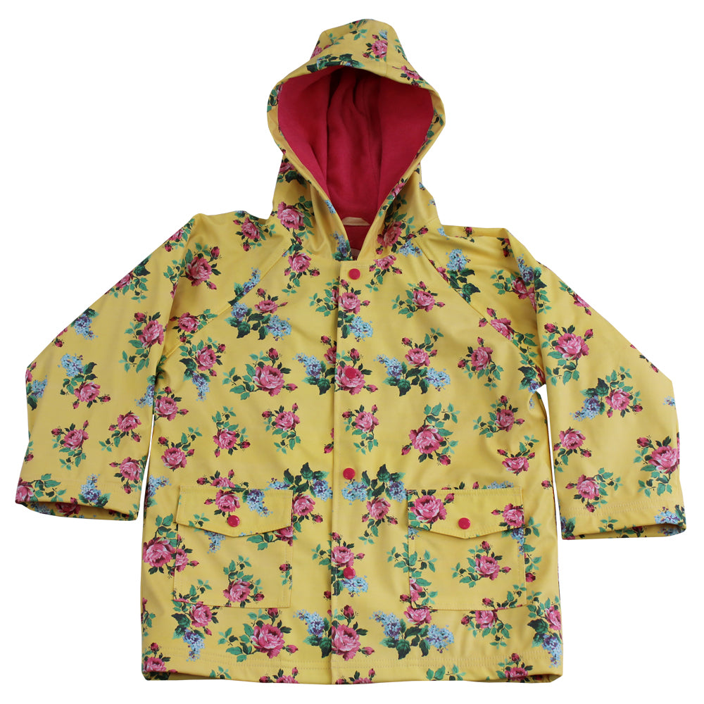 Lemon Floral Raincoat
