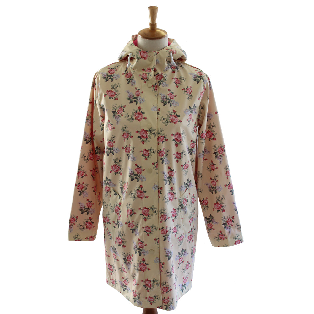 Ladies Rose Floral Raincoat