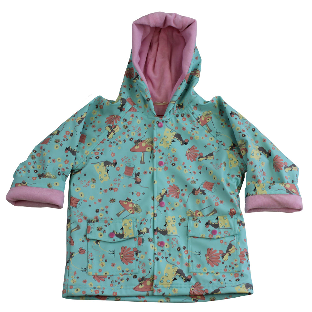 Mouse Print Raincoat
