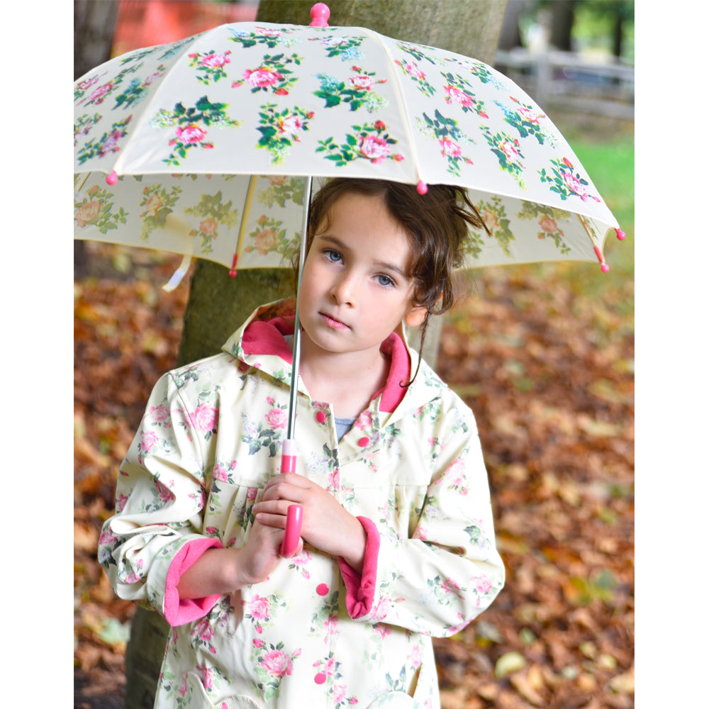 Rose Floral Raincoat
