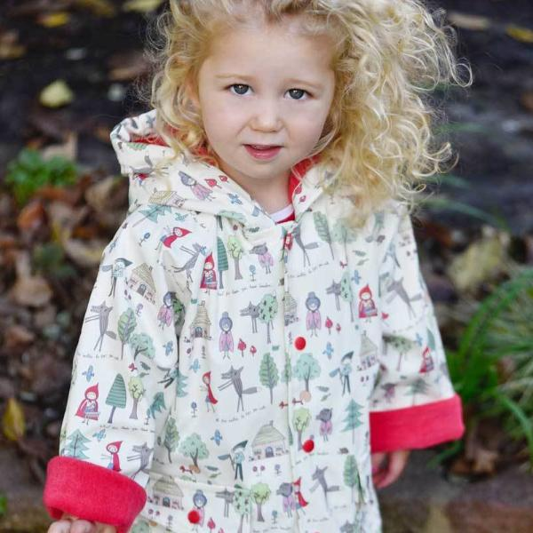 Red Riding Hood Print Raincoat