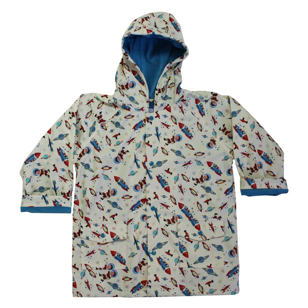 Space Print Raincoat