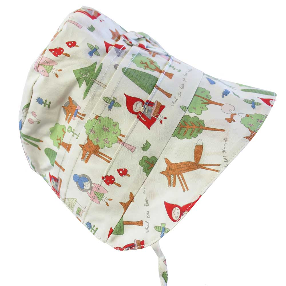 Red Riding Hood Print Baby Bonnet