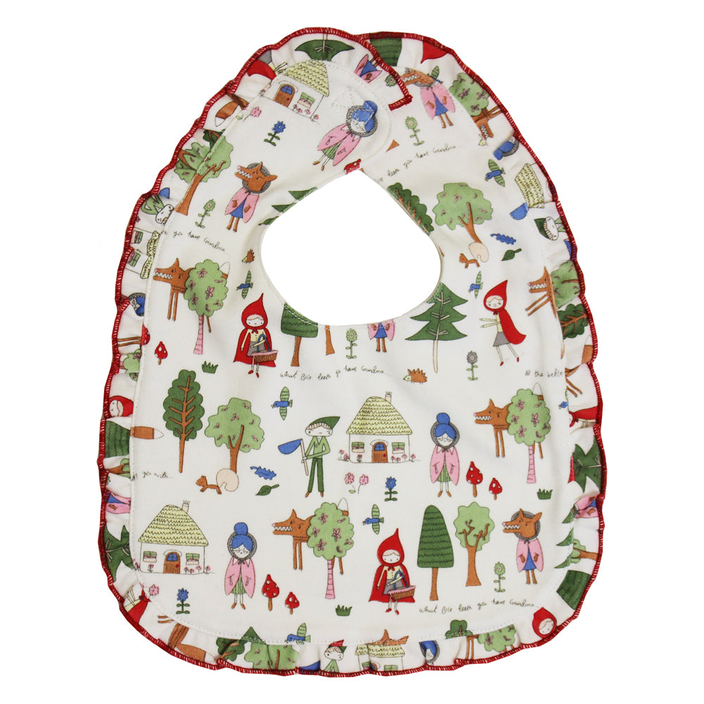 Red Riding Hood Print Bib
