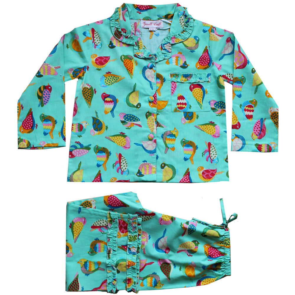 Birds of Paradise print Pyjamas
