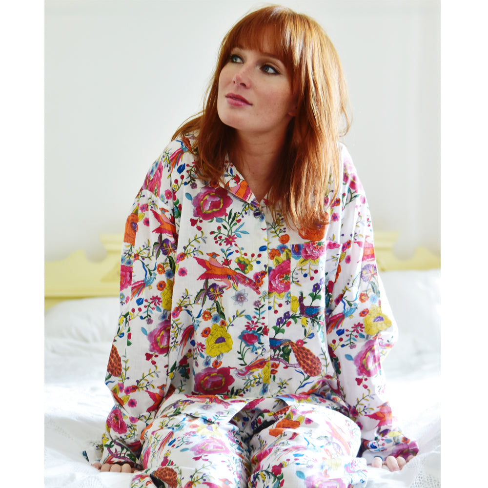 Ladies White Peacock Pyjamas