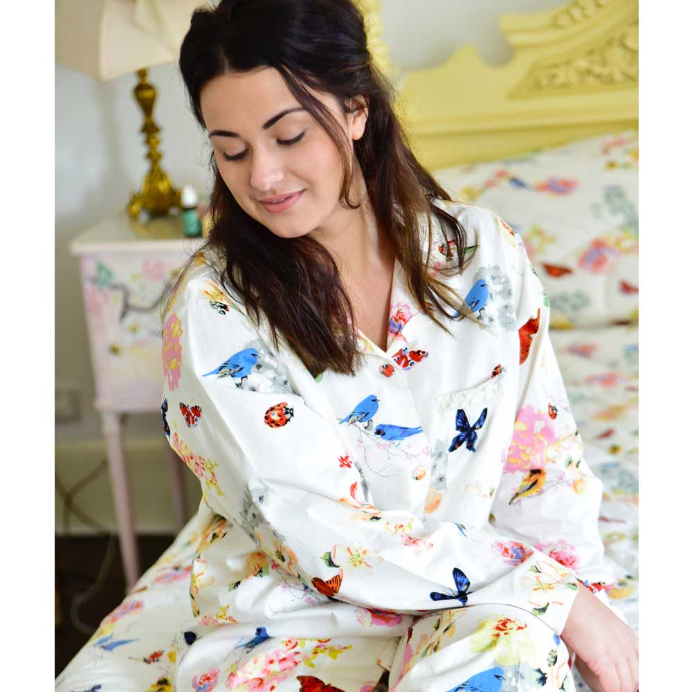 Ladies Secret Garden Print Pyjamas