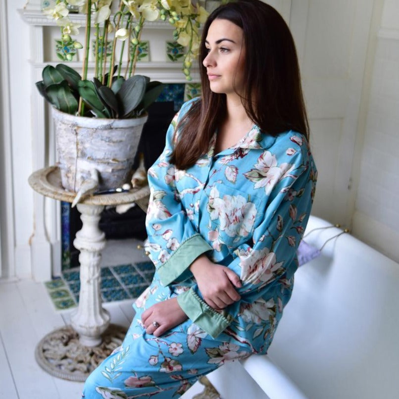 Blue Blossom Ladies Pyjamas