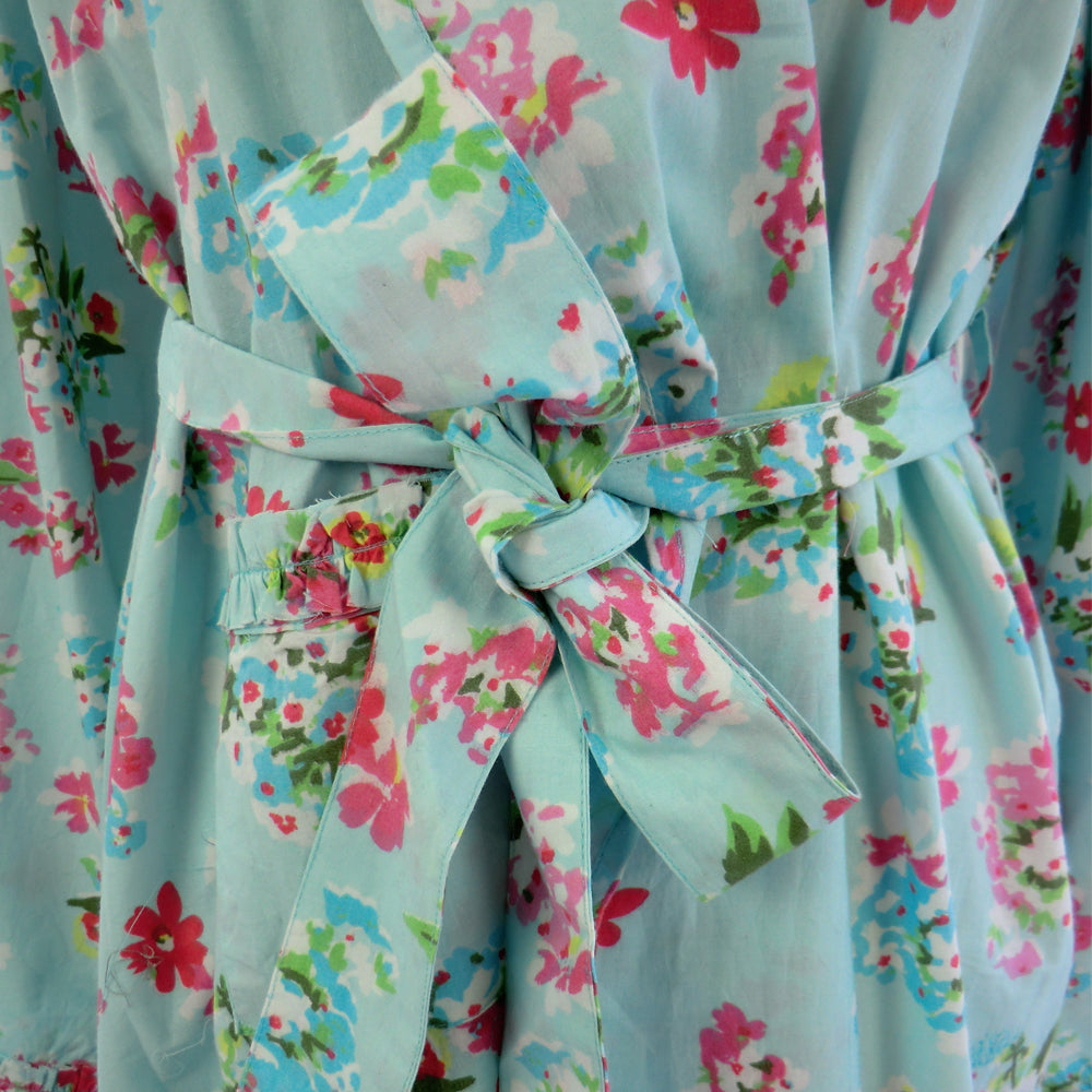 Blue Floral Ladies Dressing Gown