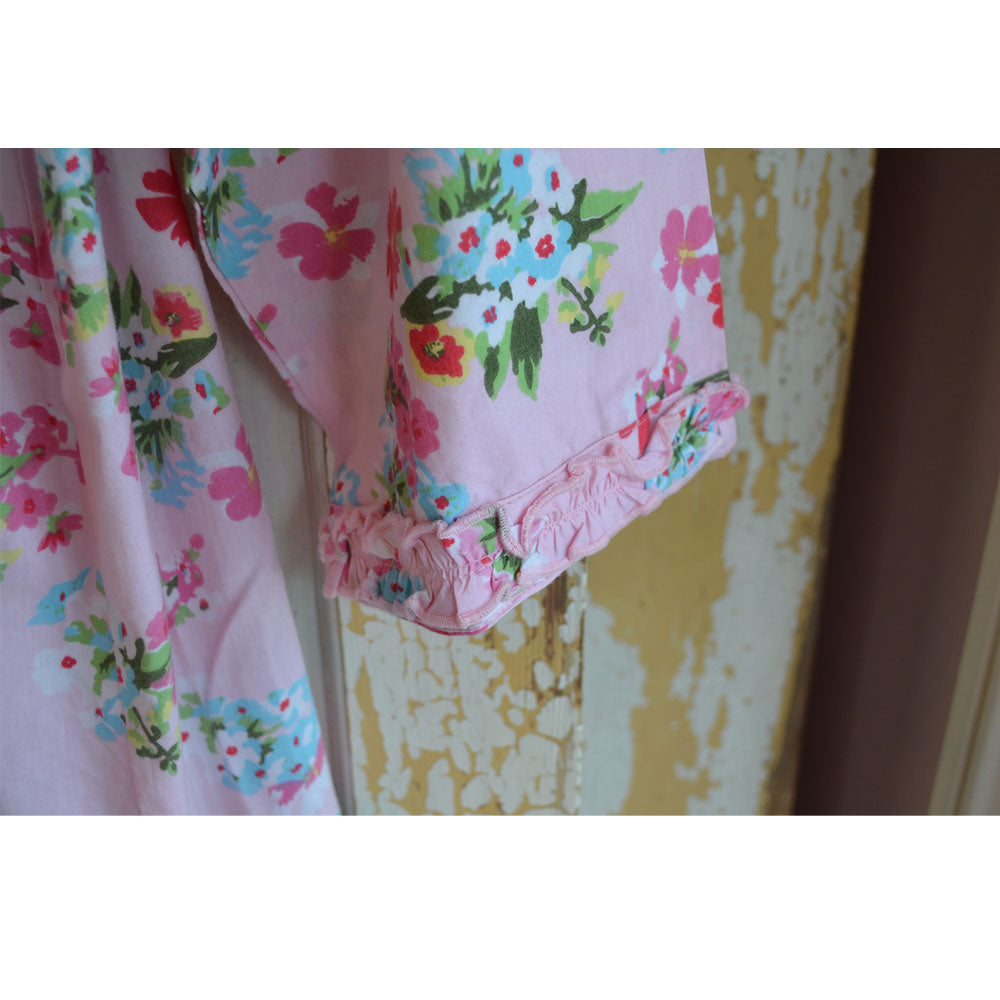 Pink Floral Ladies Dressing Gown