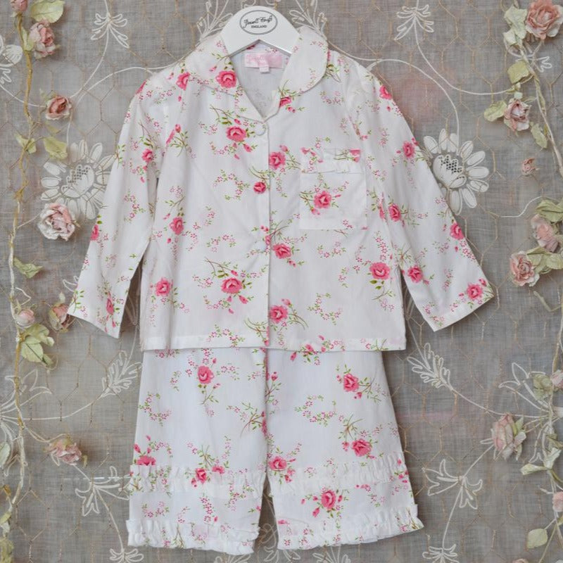 rose floral girls pyjamas by powell craft