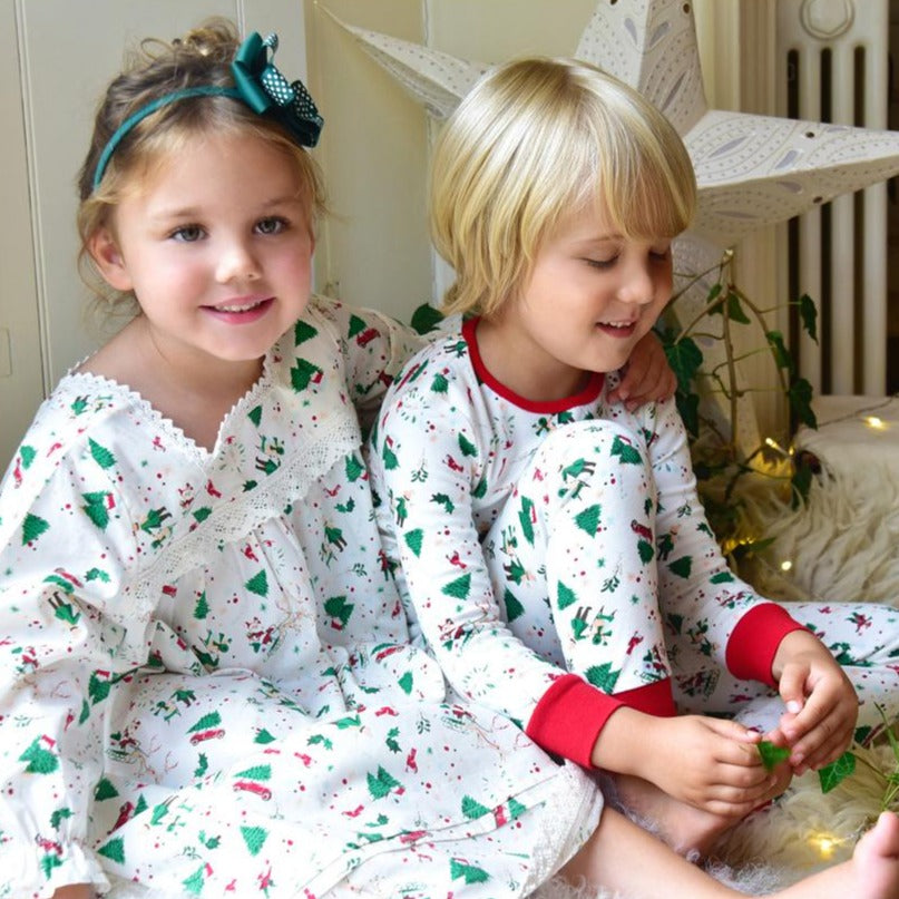Christmas Print Girls Nightdress