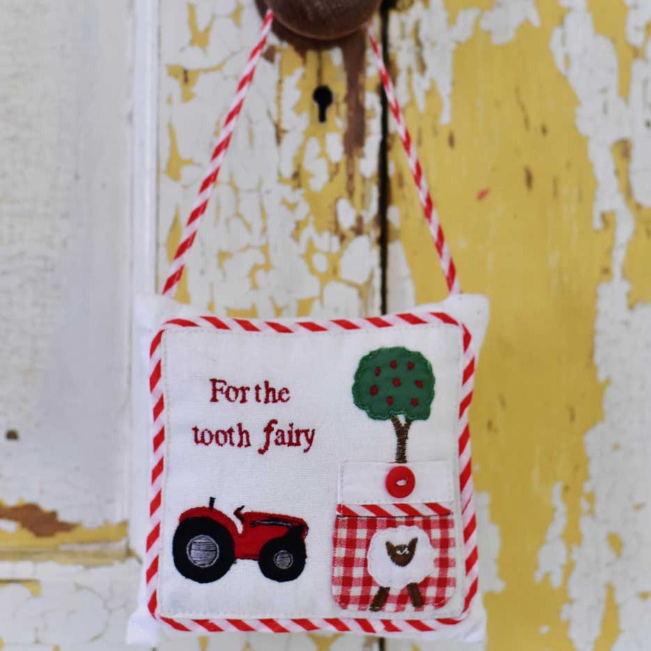 tractor toothfairy cushion by powell craft