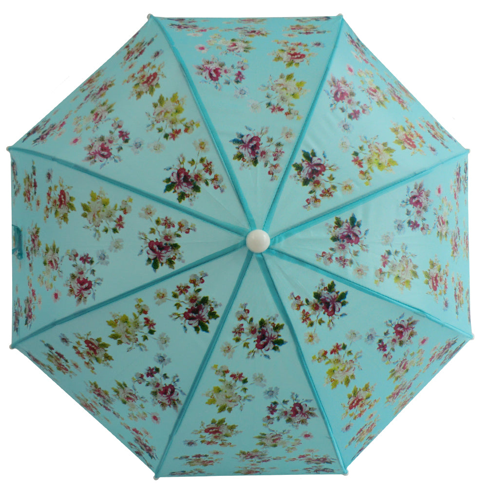 Blue Floral Umbrella