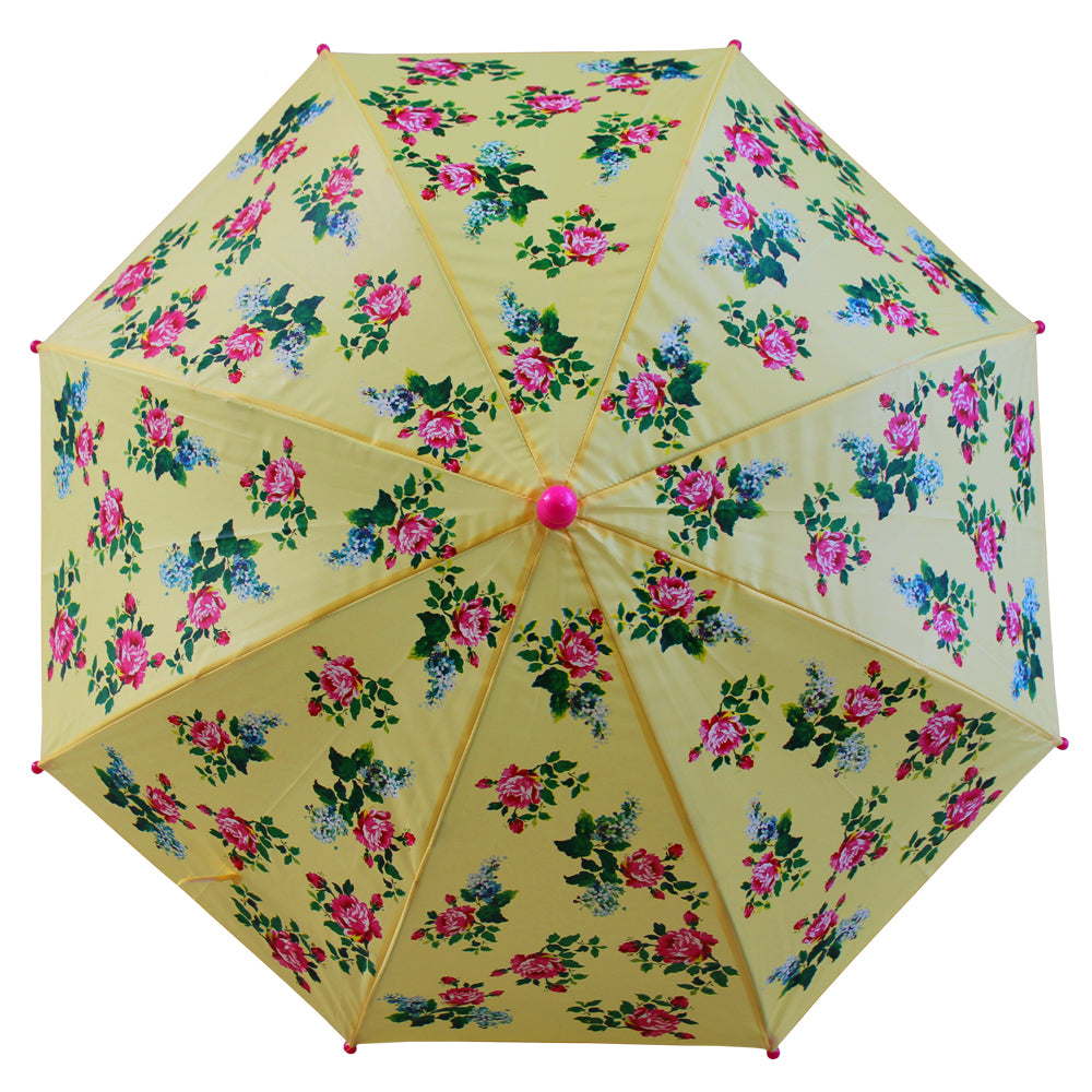 Lemon Floral Print Umbrella