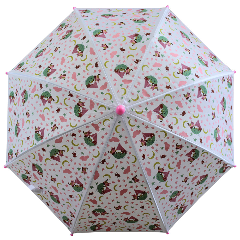 Owl and Pussycat Print Umbrella