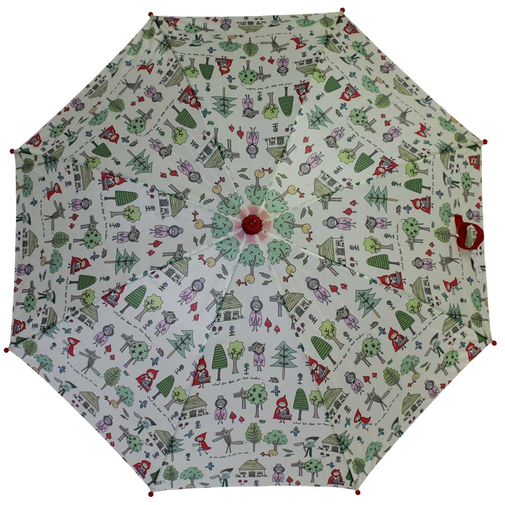 Red Riding Hood Print Umbrella