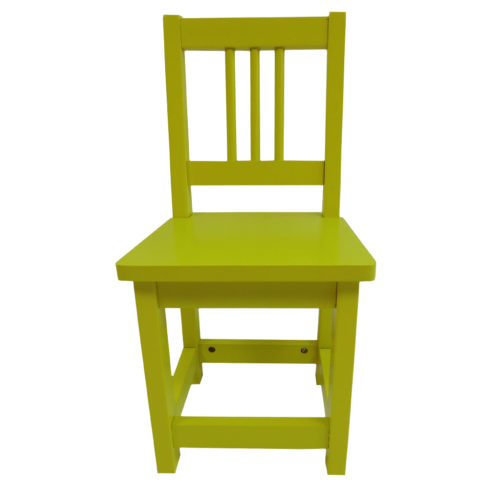 Yellow Childs Wooden Chair