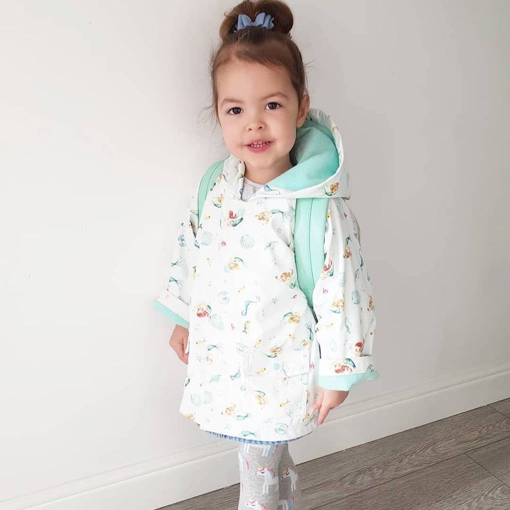 Mermaid Print Raincoat