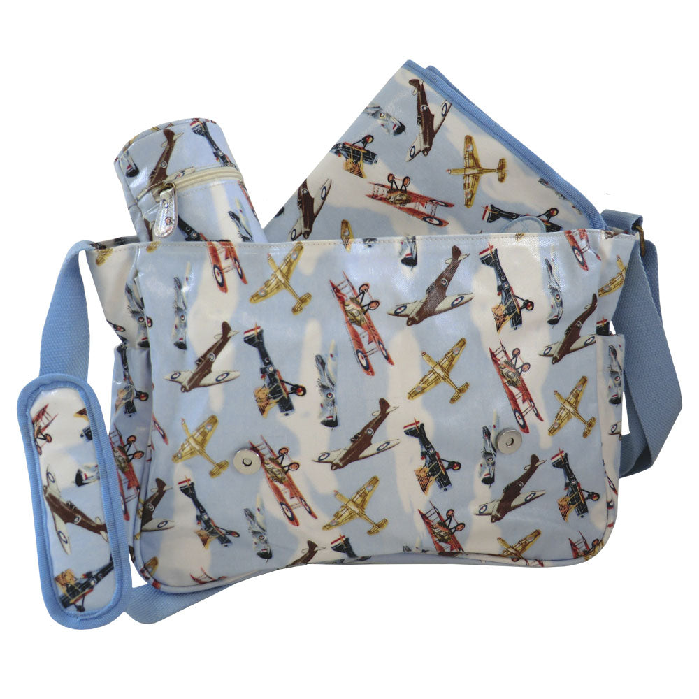 Vintage Plane Print Changing Bag